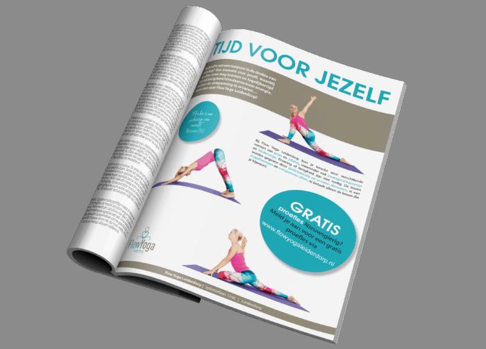 Advertentie in magazine yogastudio