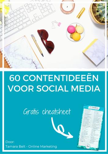 60 contentideeën cheatsheet