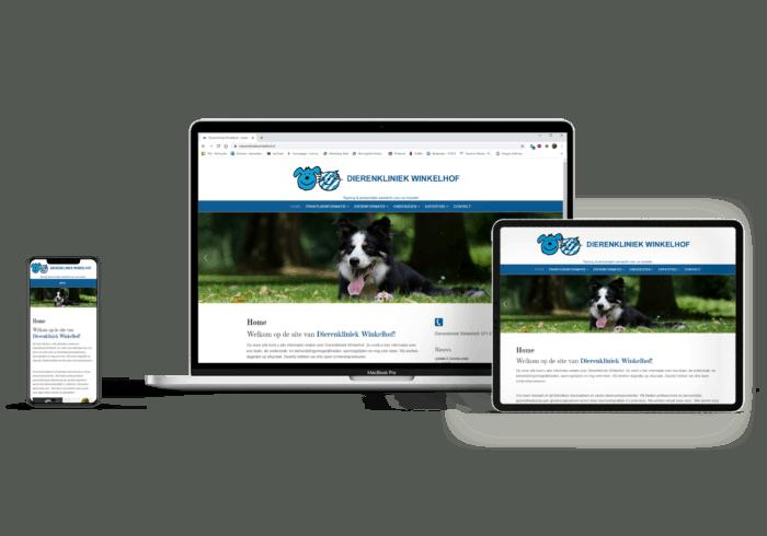 Website dierenkliniek design