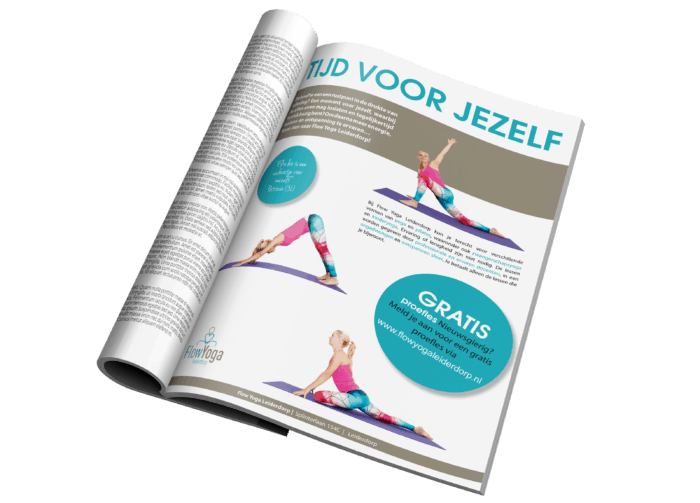 Advertentie design yogastudio