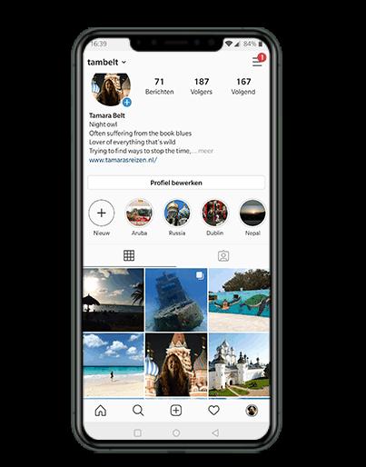 Instagram uitbesteden pakket