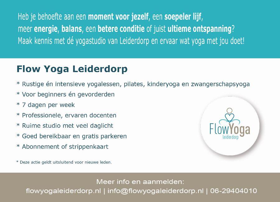 Anzichtkaart flyer yogastudio