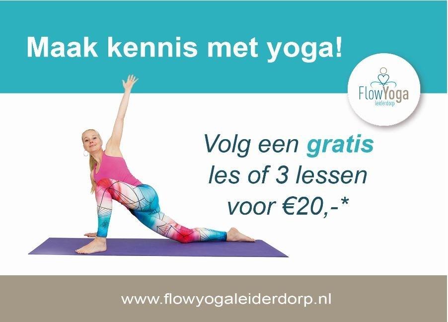 anzichtkaart flyer yoga