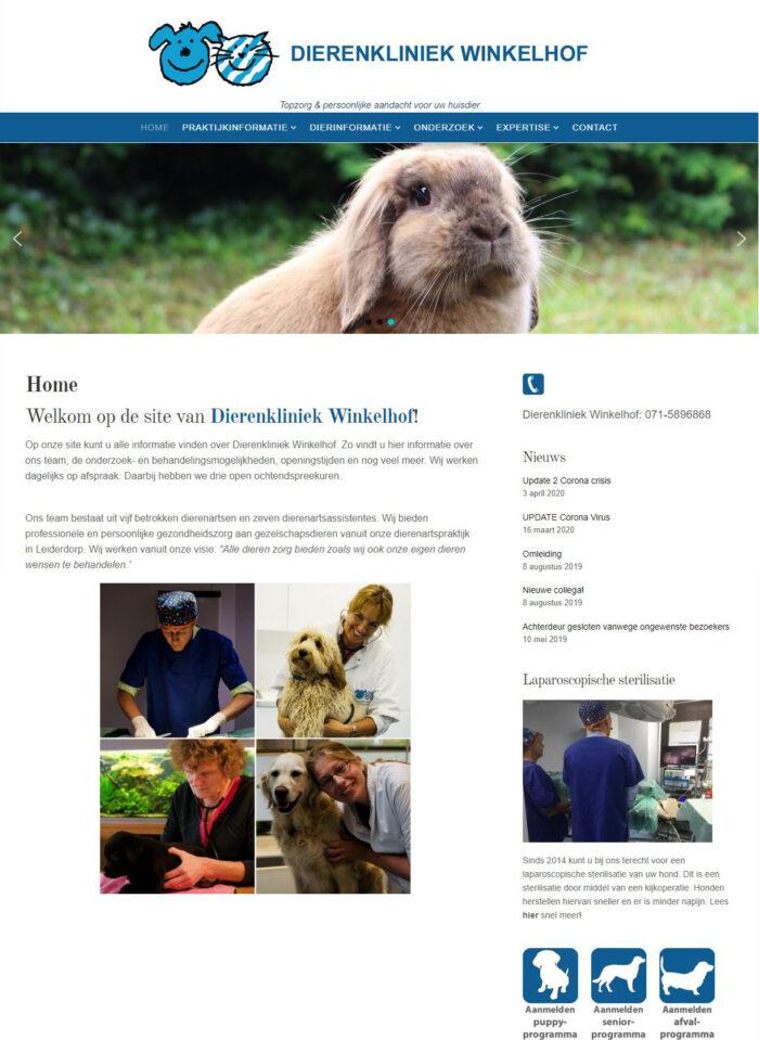 webdesign dierenkliniek winkelhof